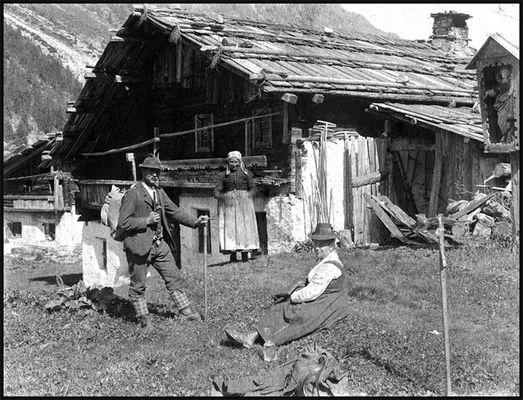 Alte Aufnahme um 1900 Pitztal Tirol