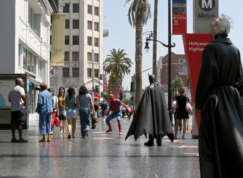 Alte Bekannte am Hollywood Boulevard (LA Sept. 2006)