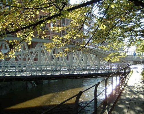 Alte Brücke in der Speicherstadt Hamburg