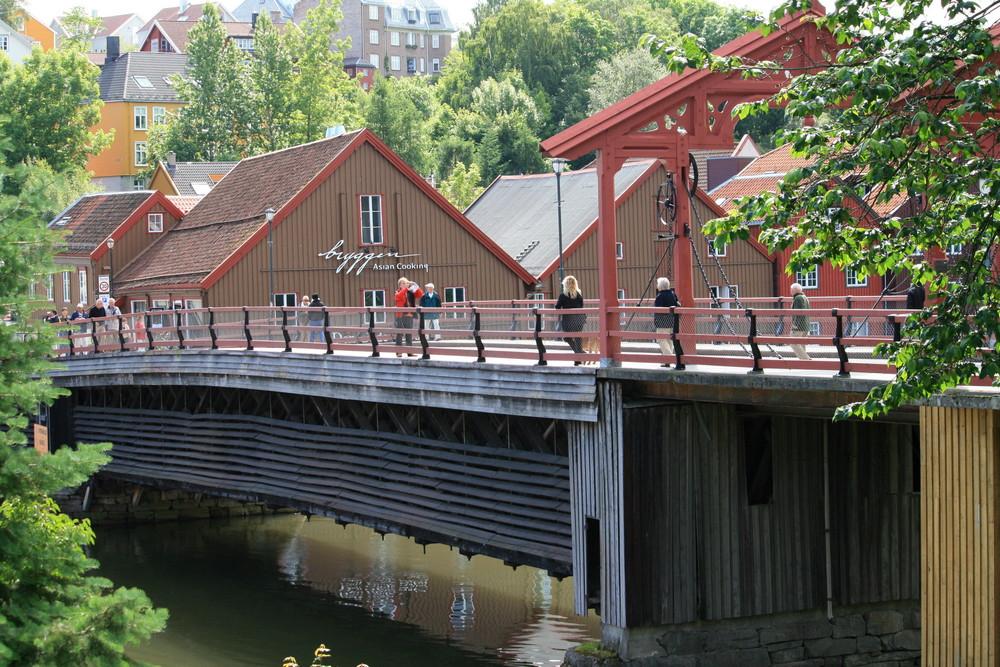 Alte Brücke in Trondheim/N.