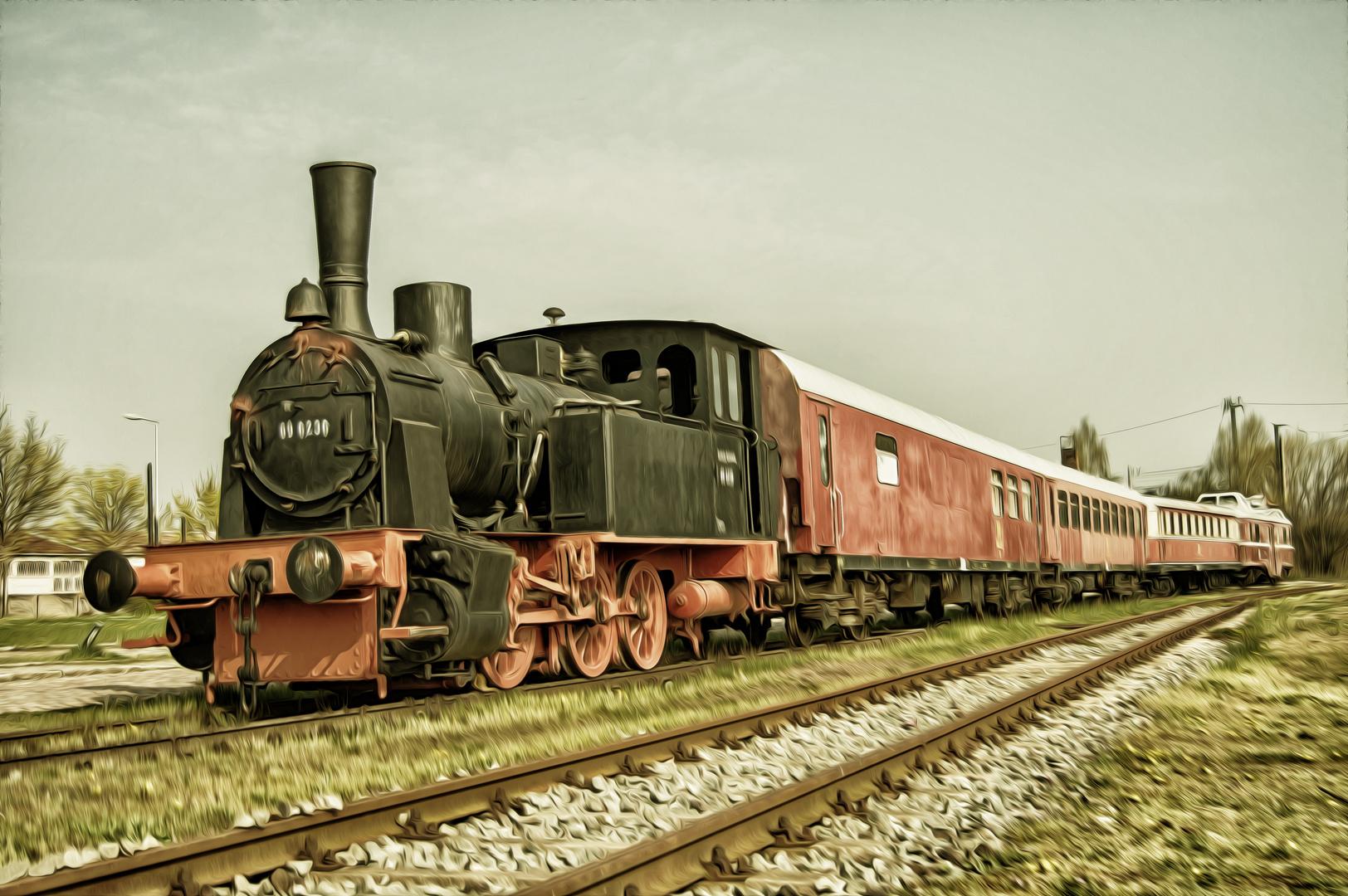 Alte Dampflok Zug