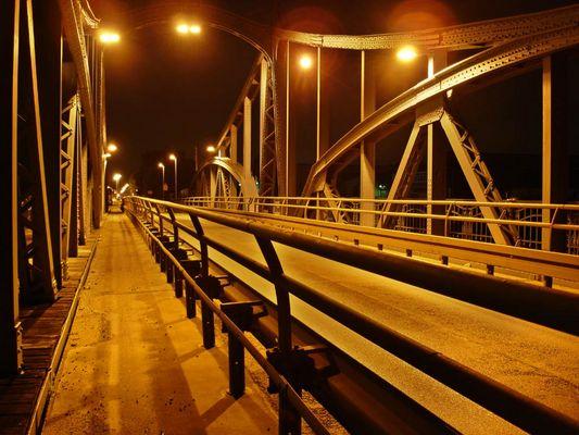 Alte Drehbrücke im Krefelder Hafen