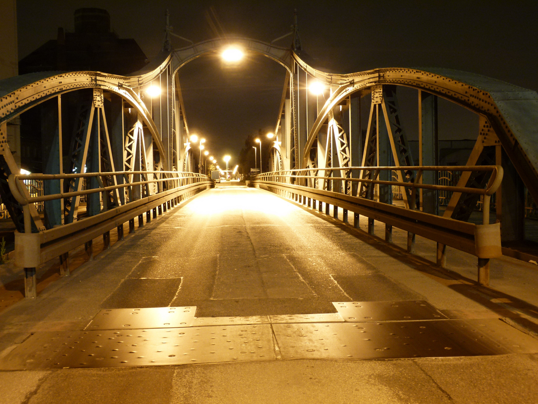 alte drehbrücke in Linn Hafenstr.