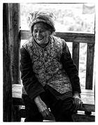 alte Frau in Longsheng