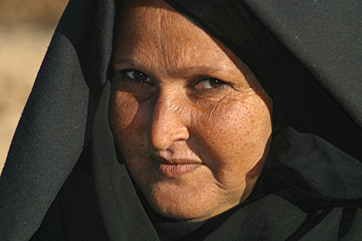Alte Frau in Luxor