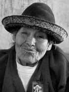 Alte Frau in Peru