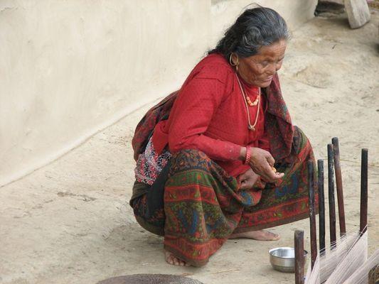 Alte Frau in Siklis