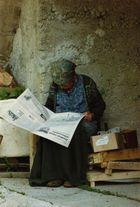Alte Frau in Slowenien