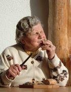 Alte Frau in Südtirol...