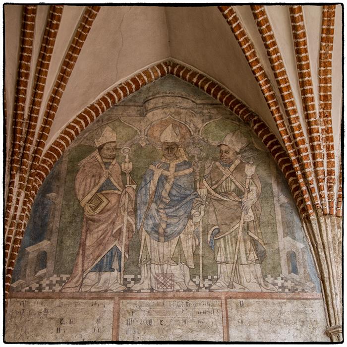 Alte Fresken in der Bischofsburg Lidzbarl Warminski (1)