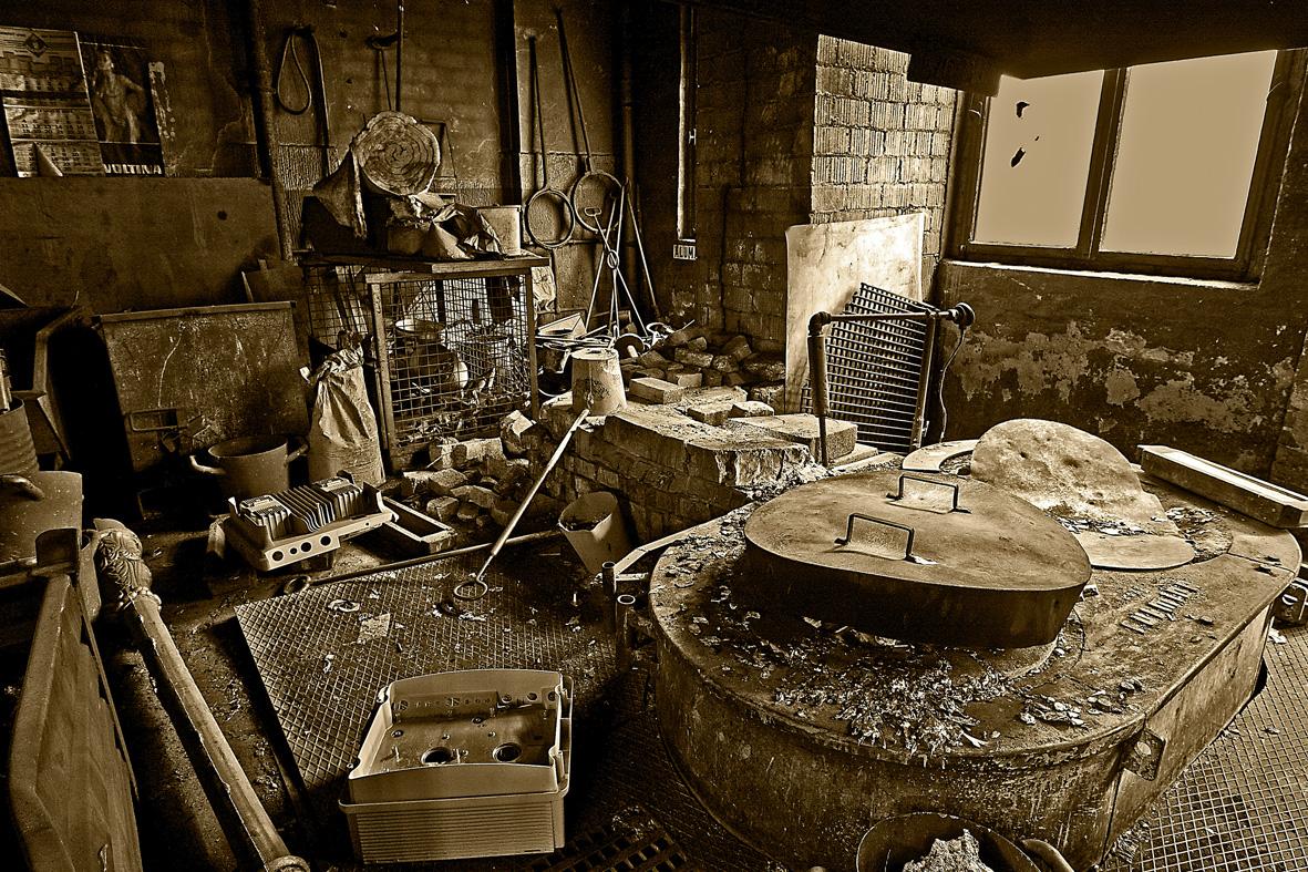 Alte Gießerei ( hier wird noch gearbeitet )