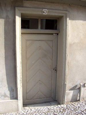 alte hängende Tür