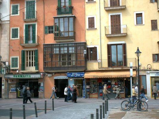 Alte Häuser in der Altstadt von Palma ( Mallorca)