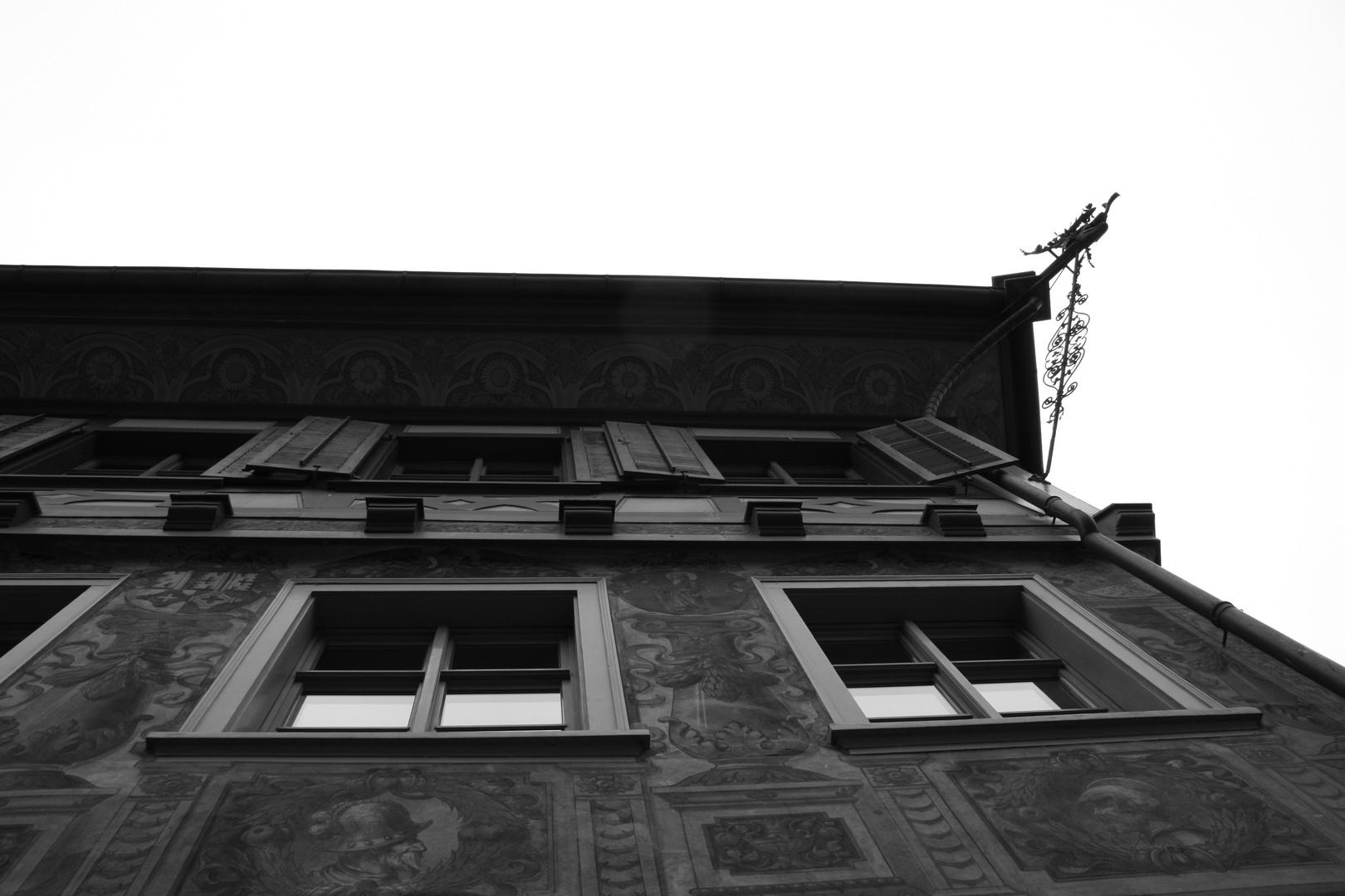 alte Häuserfront in Stein am Rhein