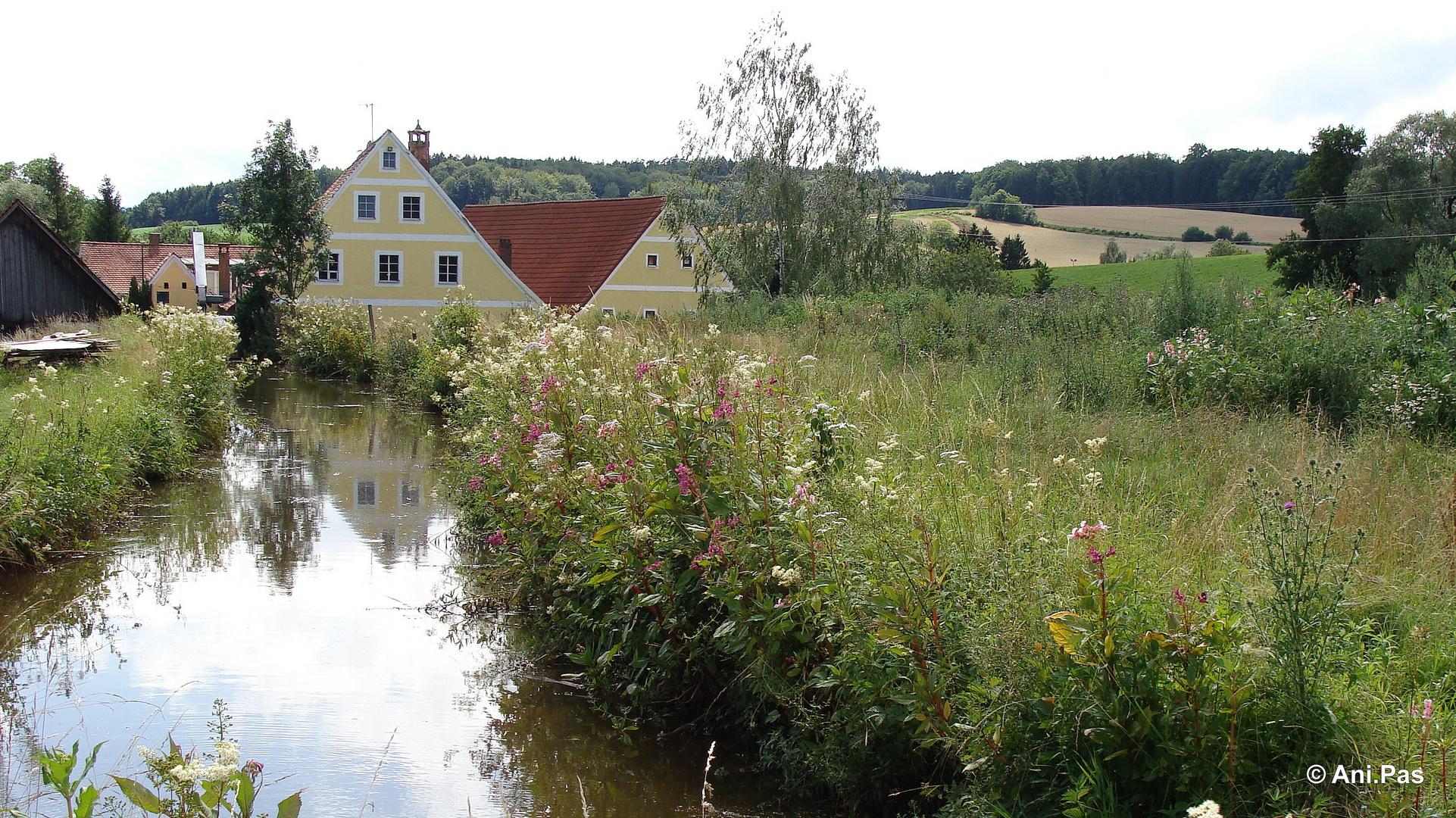 Alte Holzmühle in Franken