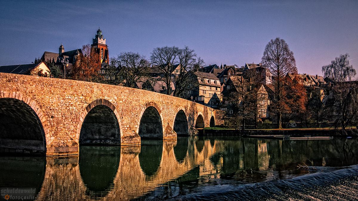 Alte Lahnbrücke und Dom Wetzlar