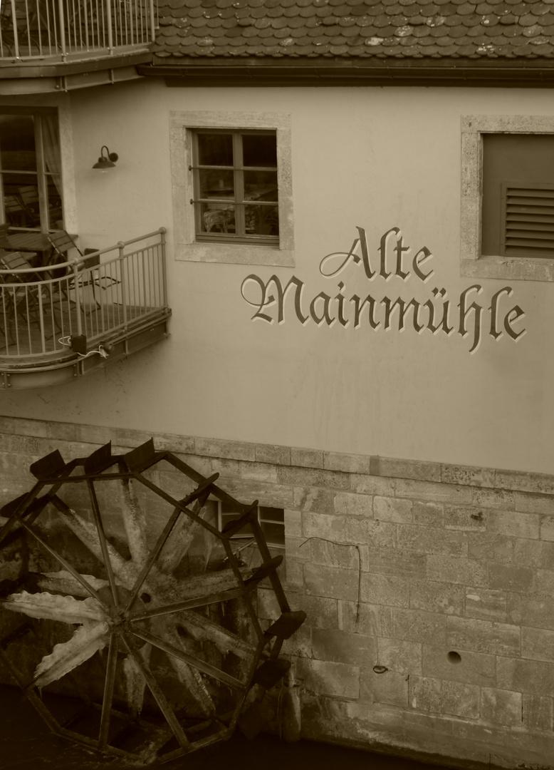 Alte Mainmühle in Würzburg
