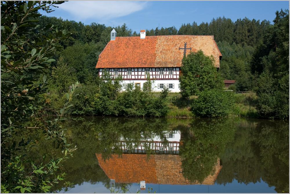 Alte Mühle im Perschener Freilandmuseum.....