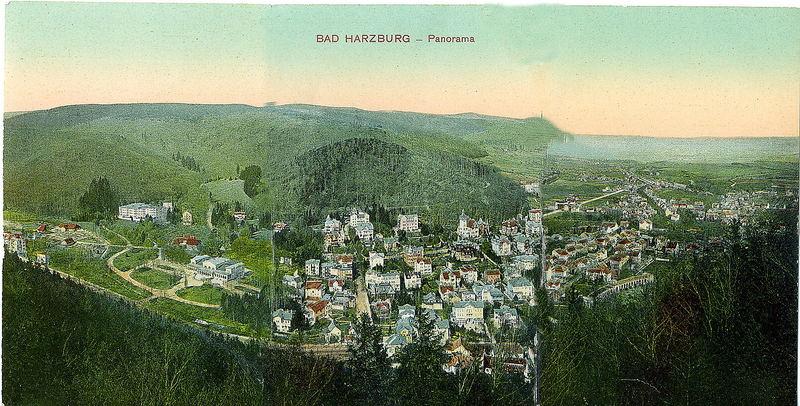Alte Postkarte von Bad Harzburg zum Klappen von 1907