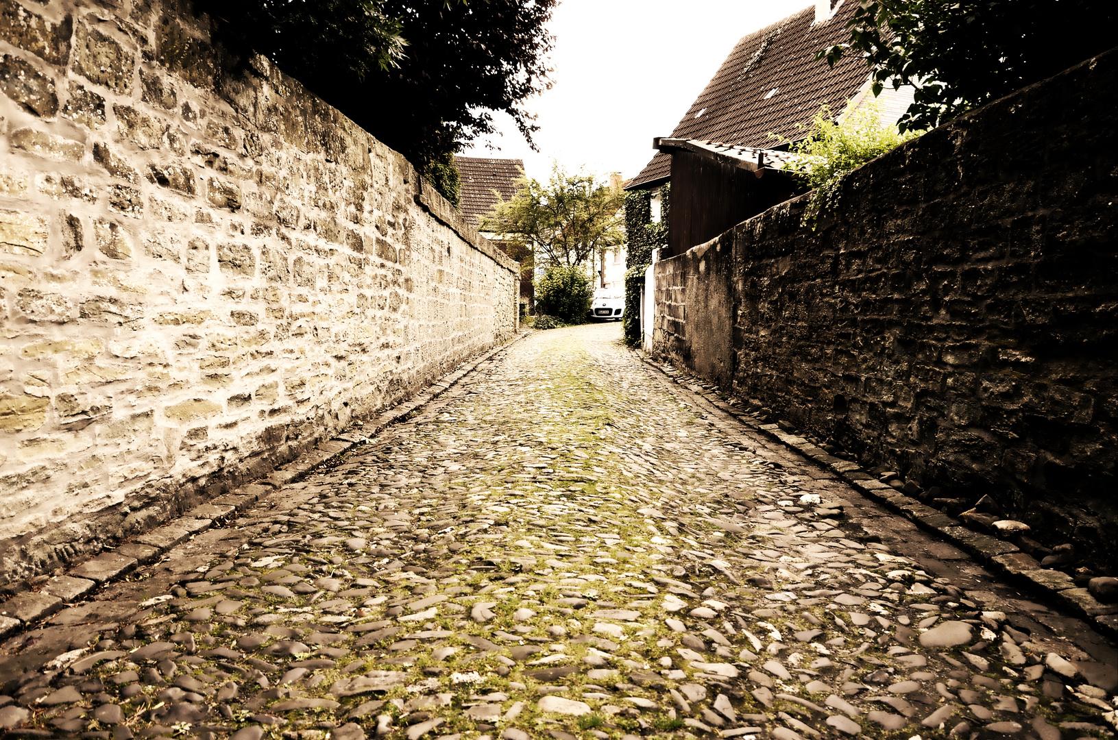 Alte Straße in Werl Westfalen