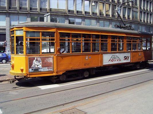 Alte Straßenbahn in Mailand