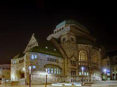 Alte Synagoge bei Nacht