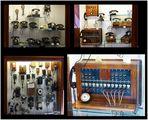 Alte Telefonanlage und Telefone -