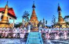 Alte Temple in Sanghklaburi ((Thailand)