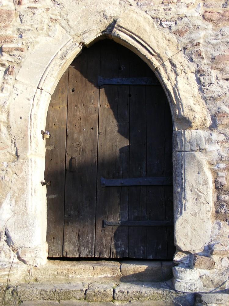 alte Tür an der Klosterkirche Ilsenburg (Harz)
