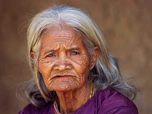 Alte Vietnamesin / Old vietnamese woman
