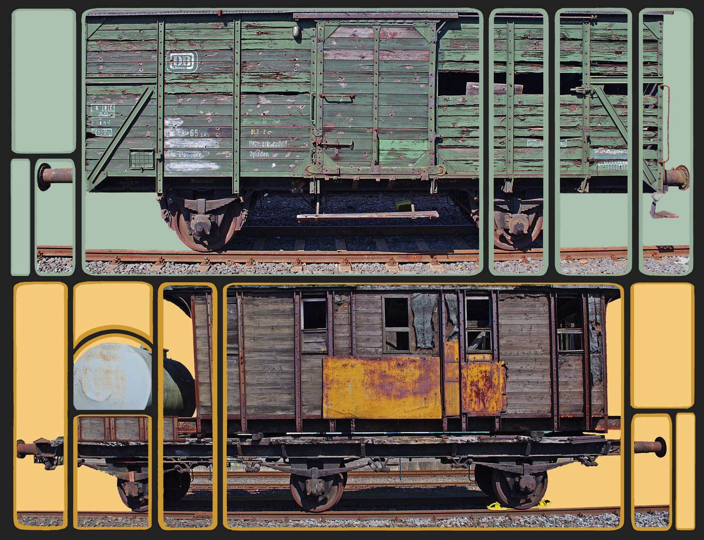 alte Waggons
