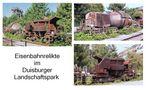 Alte Waggons für den Stahltransport von Günter Walther