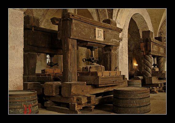Alte Weinpresse im Kloster Eberbach