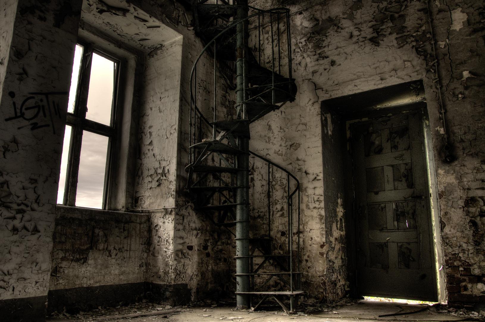 alte Wendeltreppe... old spiral staircase