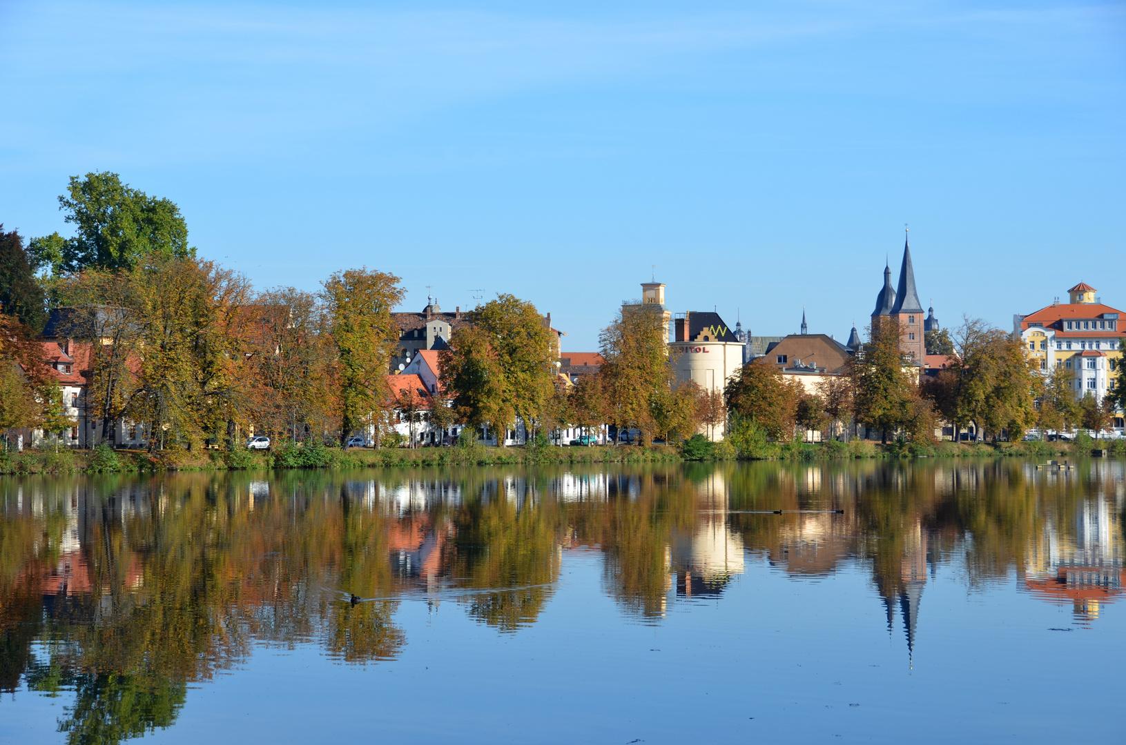 Altenburg / Thür., Blick über den Großen Teich