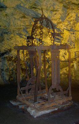 Alter Aufzug aus einem Bergwerk