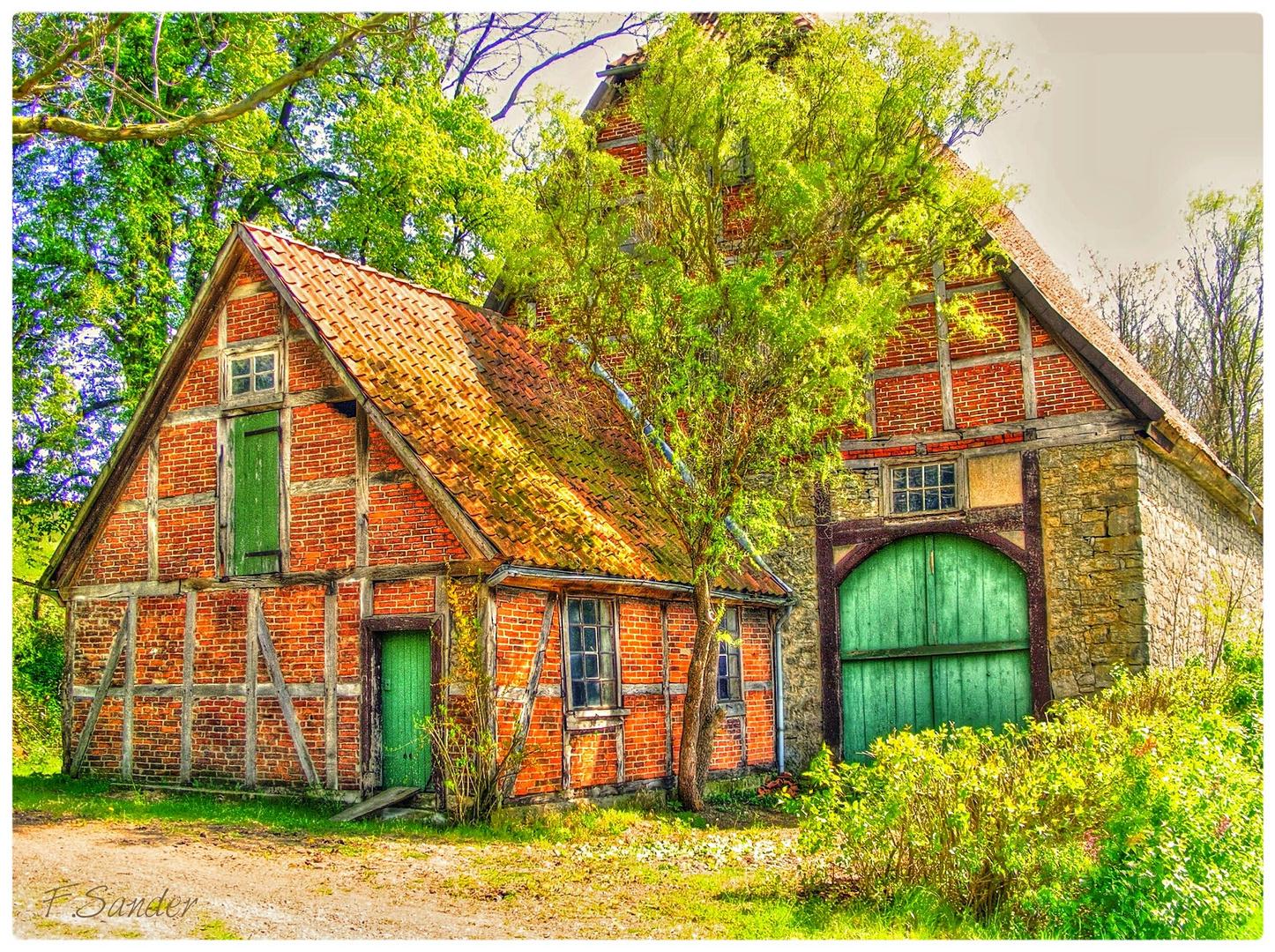 Alter Bauernhof bei Lügde in Ostwestfalen