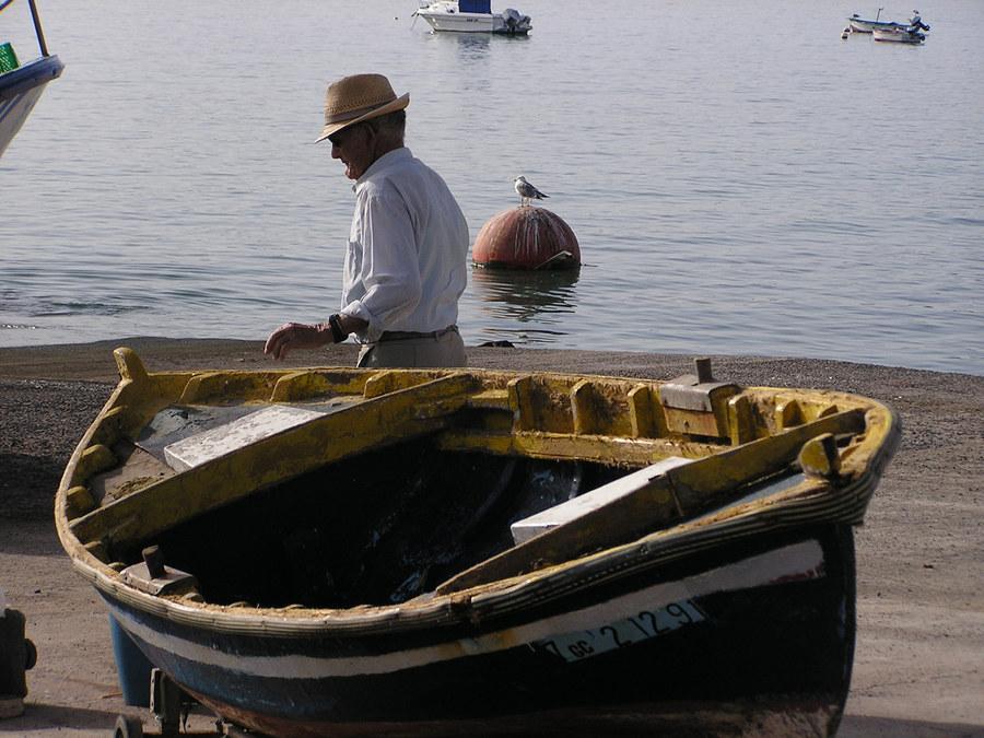Alter Fischer auf Fuerteventura