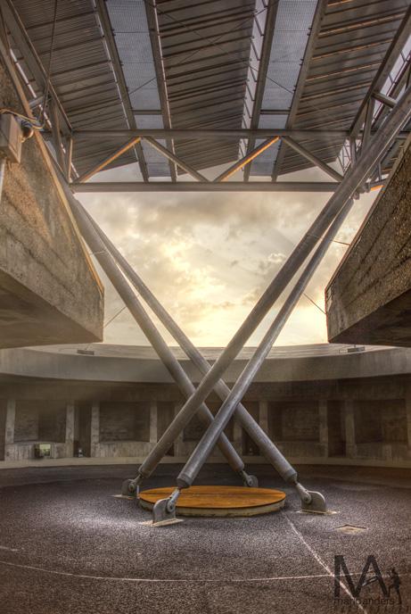alter Flackstandort auf dem Energiebunker in HH-Wilhelmsburg
