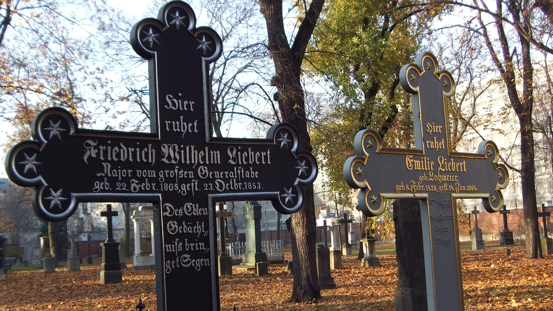 Alter Garnisionsfriedhof Berlin-Mitte in 3D