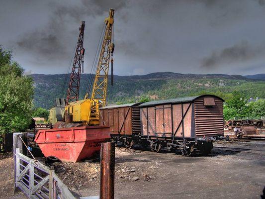 Alter Güterbahnhof in Aviemore
