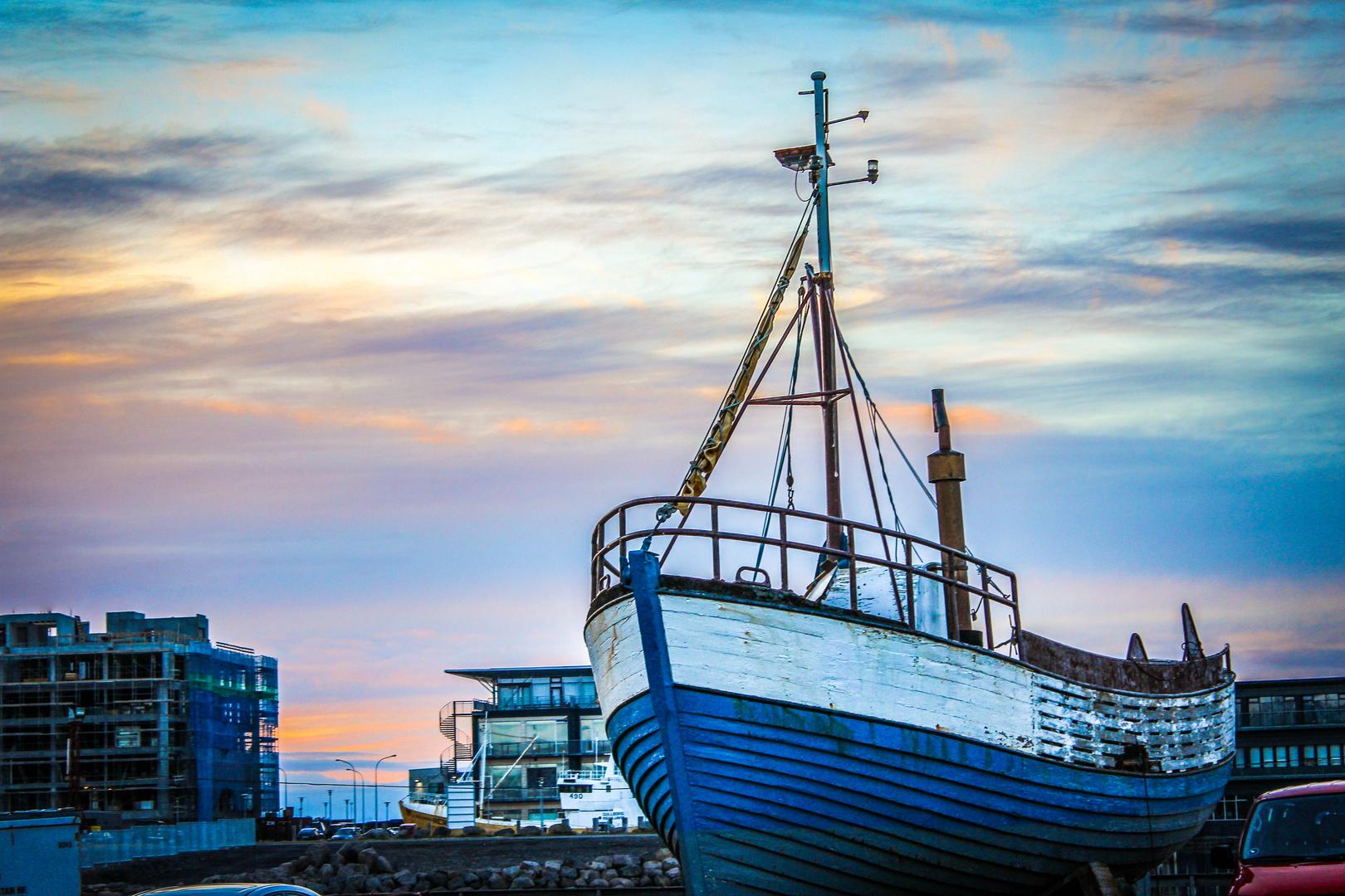 Alter Hafen, Ægisgarður Reykjavík, Island