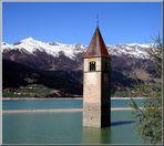 alter Kirchturm im Reschensee