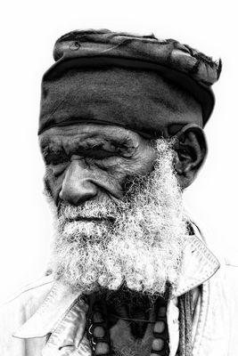 Alter Mann, Lalibela, Äthiopien