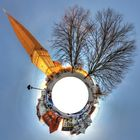 Alter Markt mit Petrikirche in Rostock Little Planet Projektion