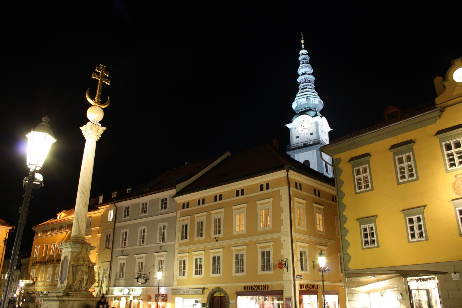 Alter Platz in Klagenfurt am Abend