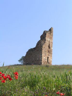 Alter Wachturm mitten in Chalkidiki