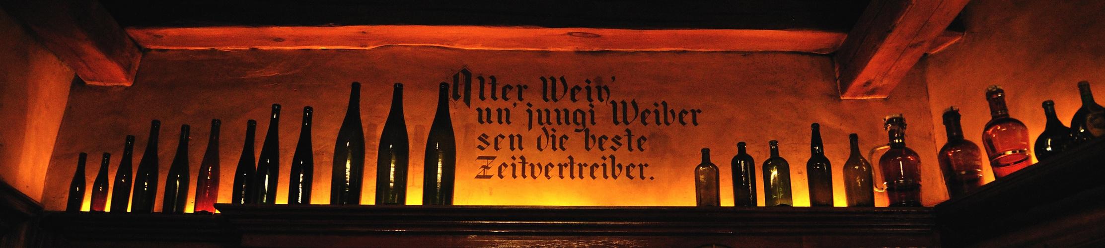 Alter Wein' un' jungi Weiber...