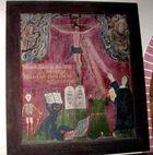 """Altes Altarbild Kirche Grüssow """"Verdammung und Rettung der Sünder"""""""