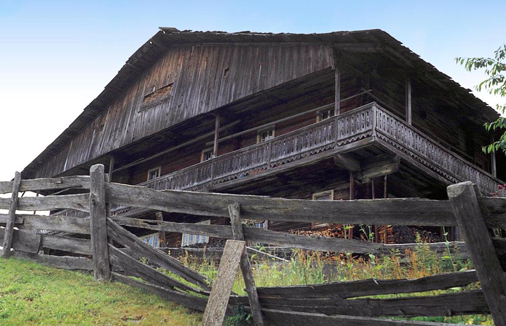 Altes Bauernhaus in Osttirol /aufgenommen 1968